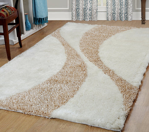 Silken Bella Collection Shag Area Rug - 1