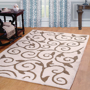 Scroll Design Soft Cozy Shag Rug - 4