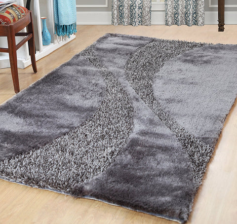Silken Bella Collection Shag Area Rug - 3