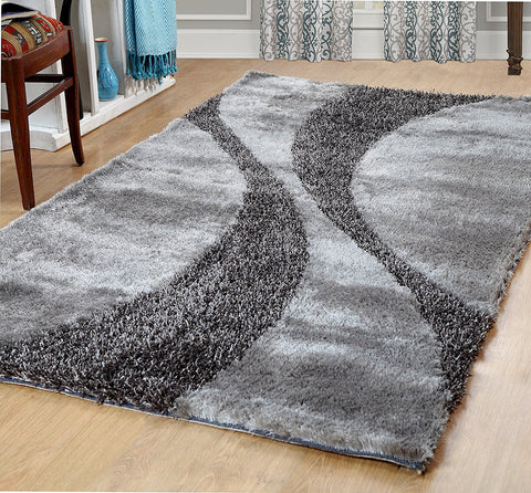 Silken Bella Collection Shag Area Rug - 2