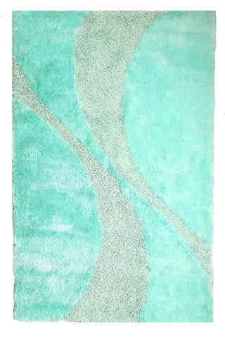 Silken Bella Collection Shag Area Rug - 4