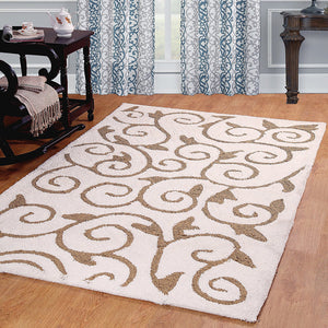 Scroll Design Soft Cozy Shag Rug - 1