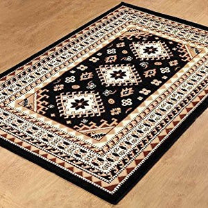 Traditional Maharaja Area Rug Black - 1