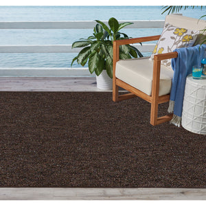 Indoor Outdoor Commercial Rugs - Chocolate