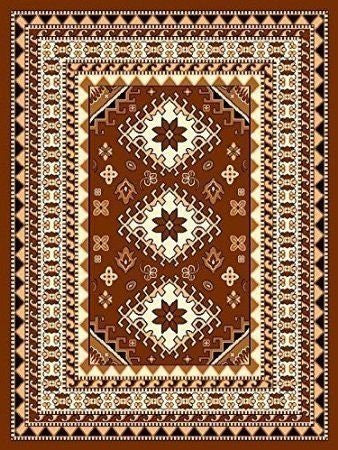 Oriental Medallion Maharaja Area Rug Coffee - 4