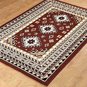 Oriental Medallion Maharaja Area Rug Coffee - 1