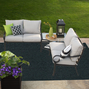 Indoor Outdoor Commercial Rugs - Dark Green