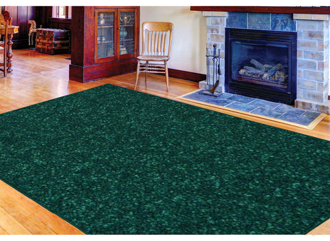 Solid Color Area Rug - Forest Green