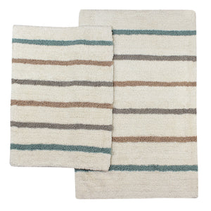 Baron White Water Bathroom Mats -2