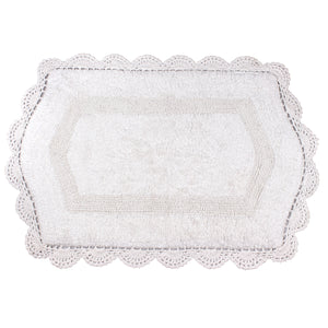 Abby White Soft Cotton Bath Mat -2