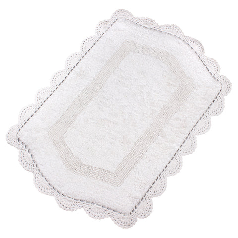 Abby White Soft Cotton Bath Mat -3