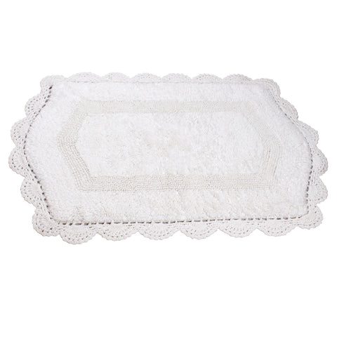 Abby White Soft Cotton Bath Mat -4