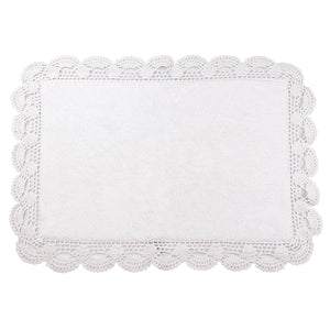 Aubry  White Bath Mats -2