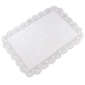 Aubry  White Bath Mats -3