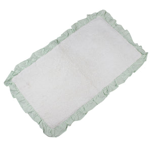Bonie White Glacier Bathroom Mats -3