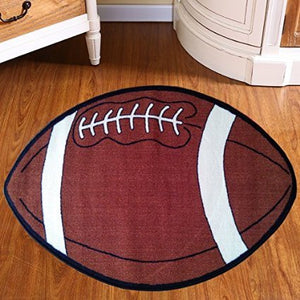 Maple Home 715 Football Kids Sports Area Rug Red