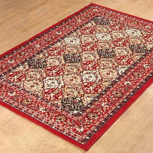Traditional Persian Style Maharaja Area Rug Red - 1