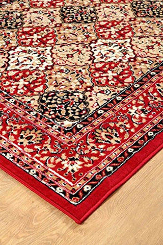 Traditional Persian Style Maharaja Area Rug Red - 2