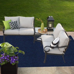 Indoor Outdoor Commercial Rugs - Navy