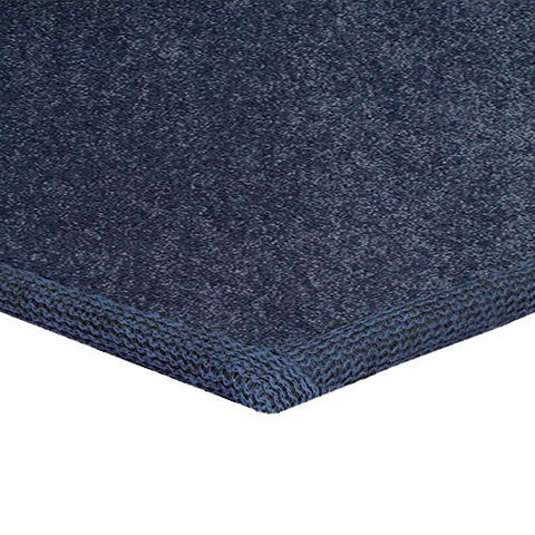 Solid Color Area Rug Square-Petrol Blue