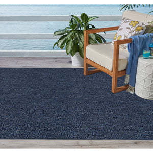 Indoor Outdoor Commercial Rugs - Petrol Blue