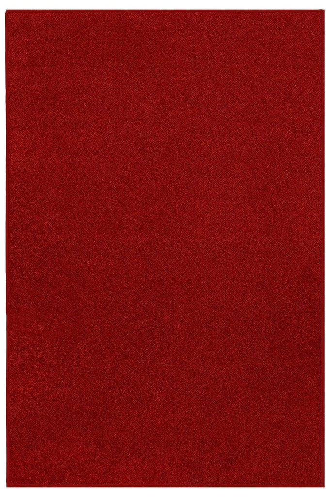 Solid Color Area Rug -Red