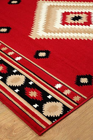 Southwestern Rustic Lodge Area Rug Red - 2