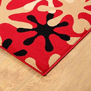 Splah Design Contemporary Area Rug Red - 1