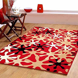 Splah Design Contemporary Area Rug Red