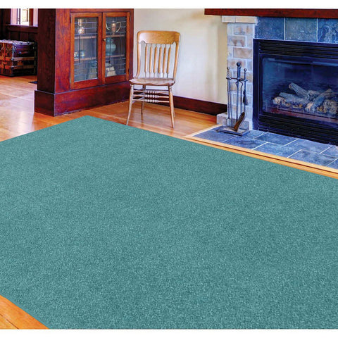 Solid Color Area Rug -Teal