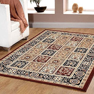 Persian Style Traditional Medallion Area Rug Coffee