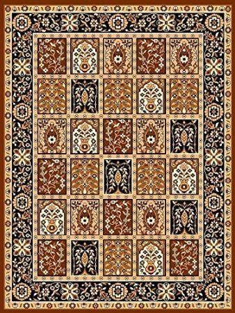 Persian Style Traditional Medallion Area Rug Coffee - 4