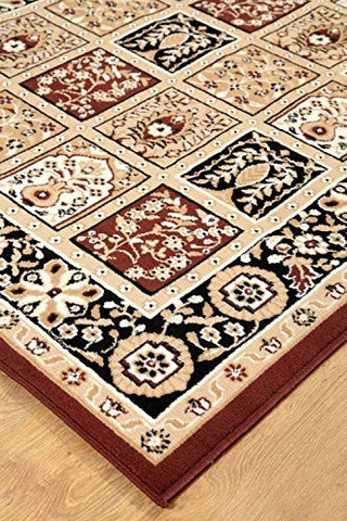 Persian Style Traditional Medallion Area Rug Coffee - 3