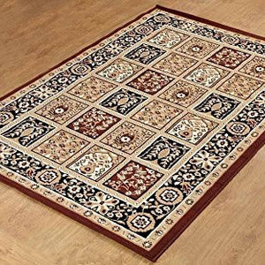 Persian Style Traditional Medallion Area Rug Coffee - 1