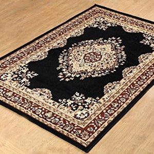Oriental Medallion Maharaja Carpet Black - 1
