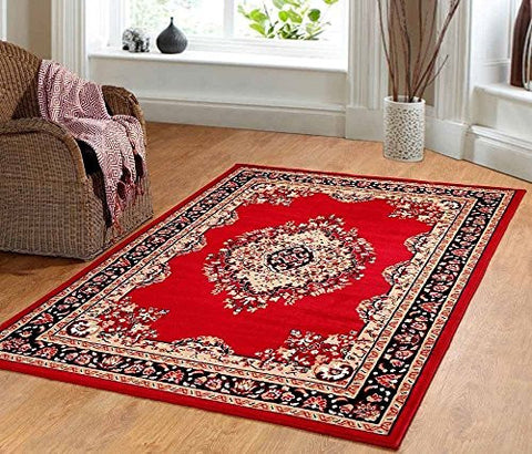 Persian Style Maharaja Area Rug Red
