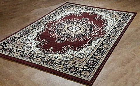 Oriental Medallion Persian Style Carpet Brown - 1