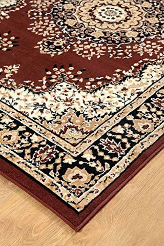 Oriental Medallion Persian Style Carpet Brown - 2