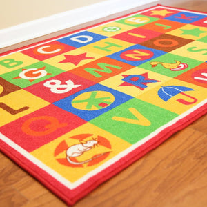 Multicolor Abc Boxes Area Rug - 1
