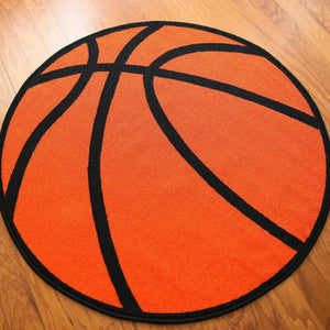 Basketball Round Kids Rug