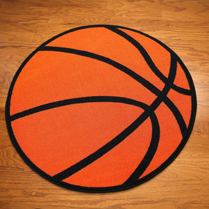 Basketball Round Kids Rug - 1