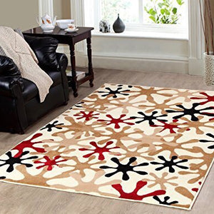 Ivory color 8'x10' soft contemporary area rug