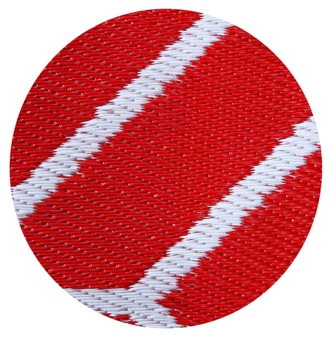 Maple Home Patio Patterned Octavius Outdoor Area Rug - Red