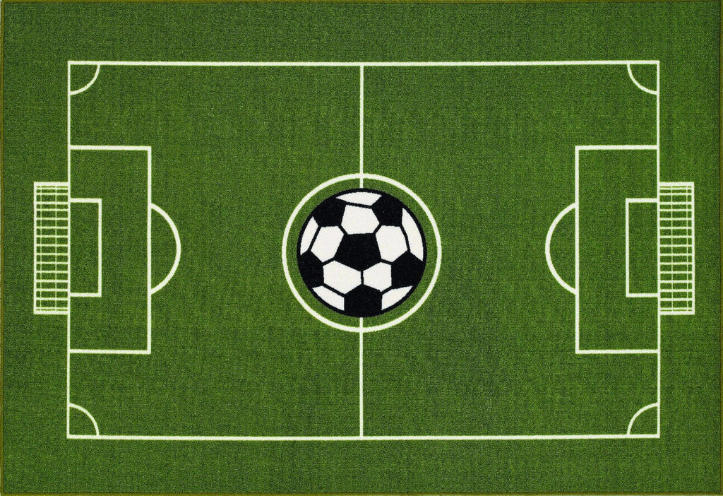 Soccer Ground Kids Rug