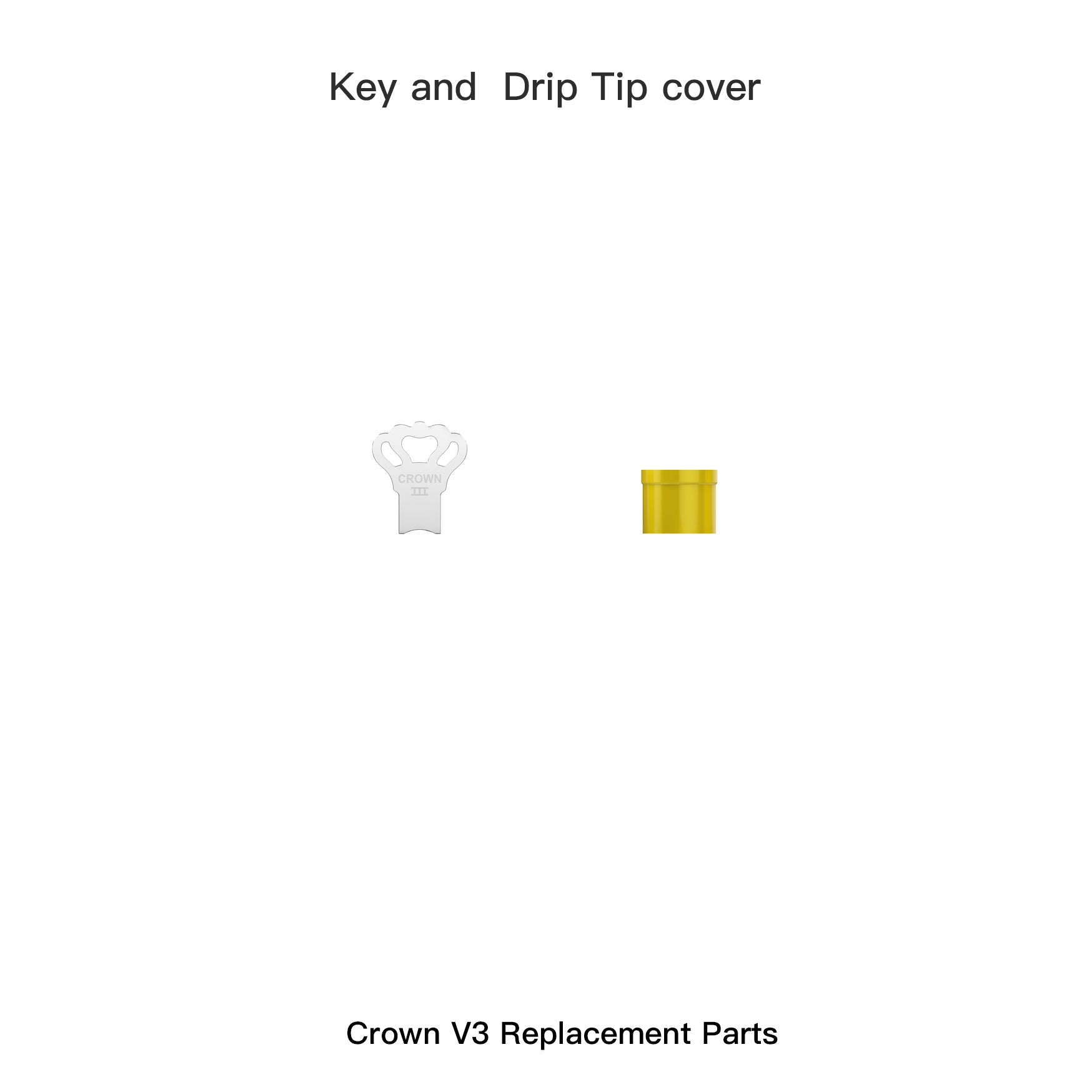 Crown 3 Key and Crown 3 Drip Tip cover