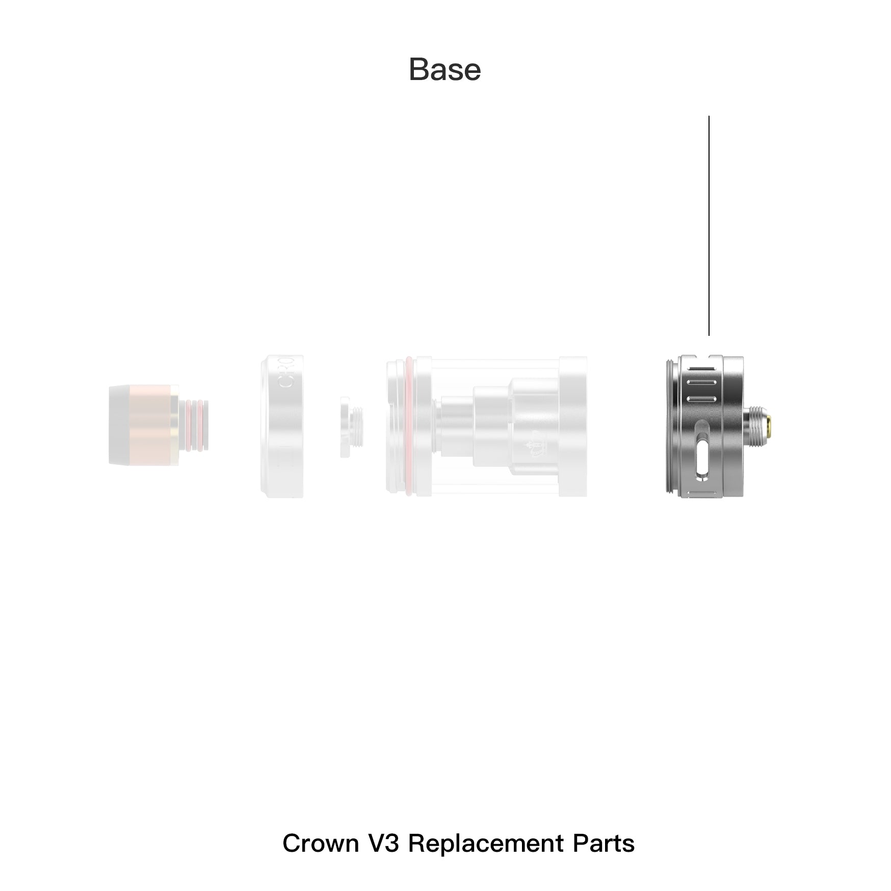 Crown 3 Replacement Atomizer Base