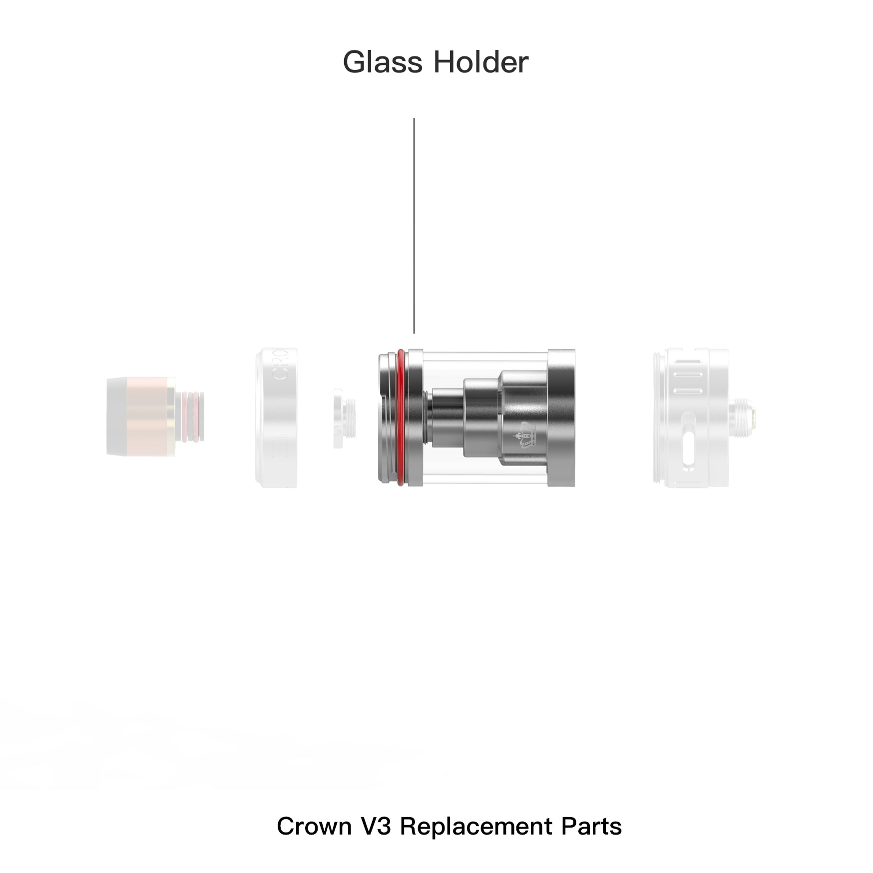 Crown 3 Replacement Glass Holder