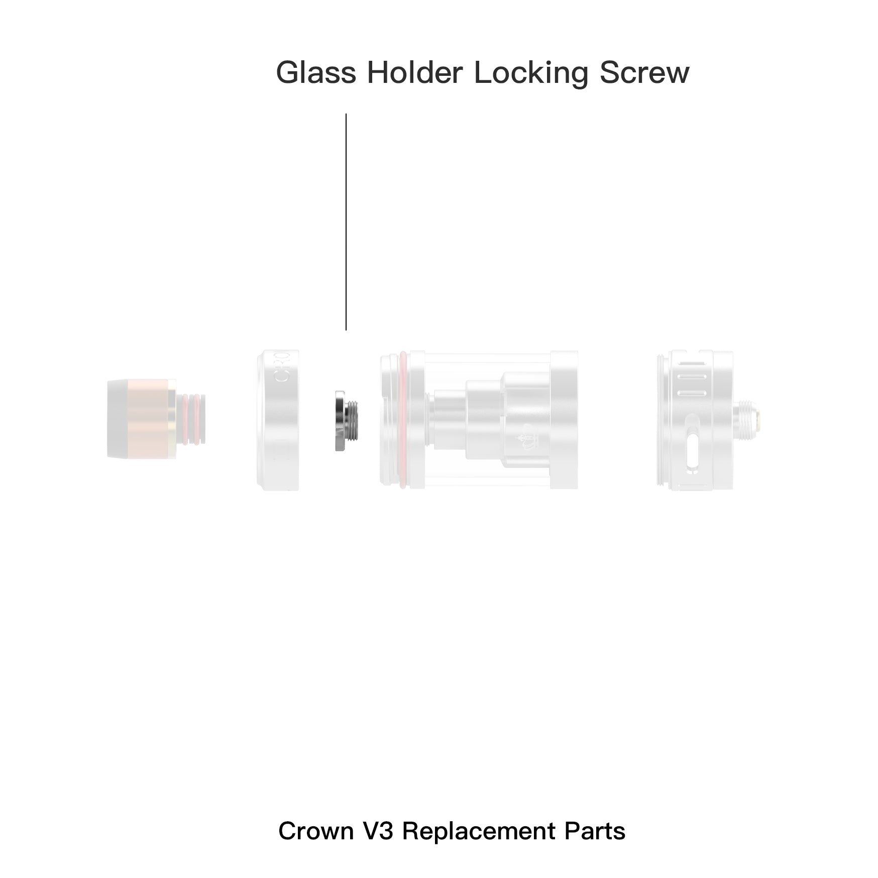 Crown 3 Glass Holder Locking Screw