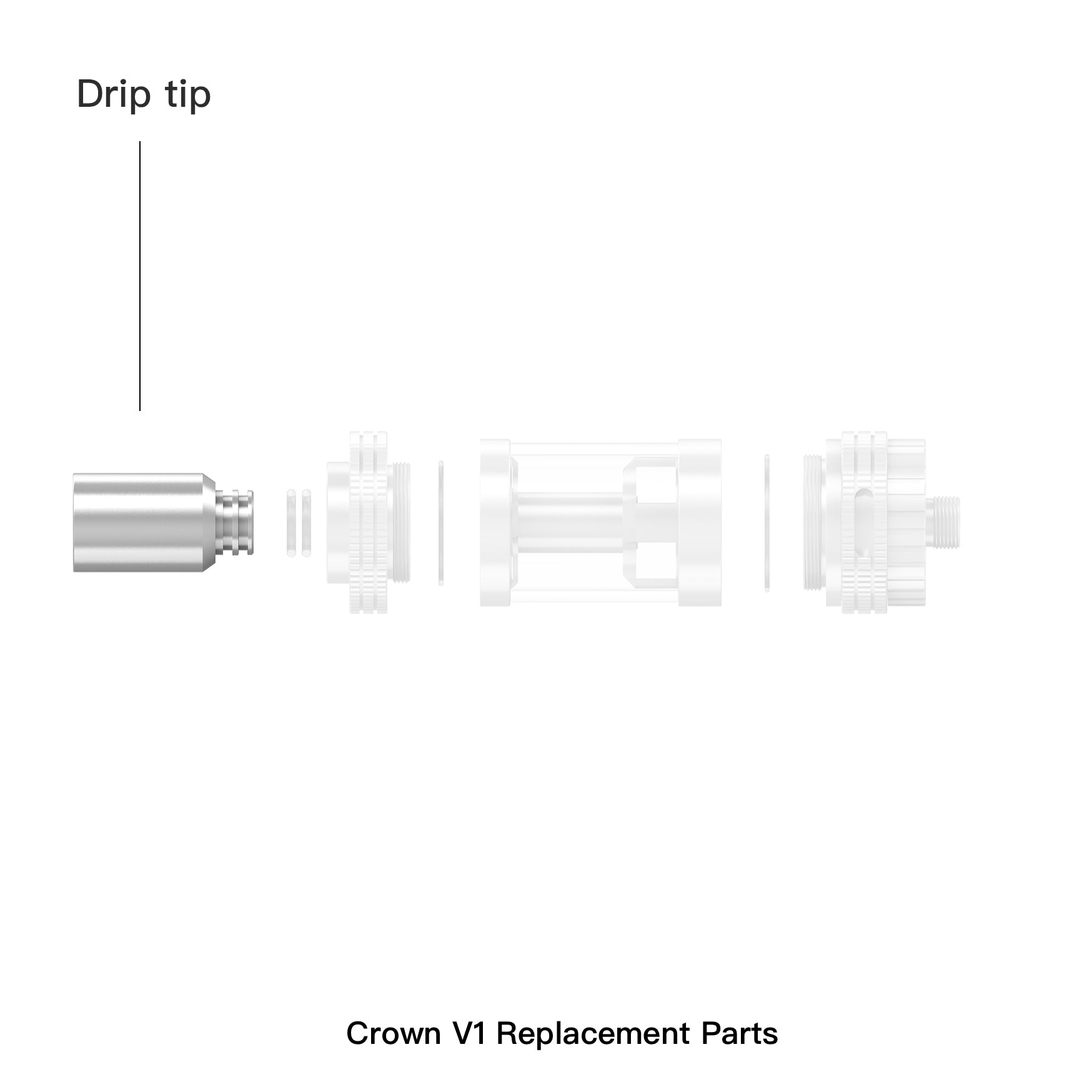 Crown Replacement drip tip