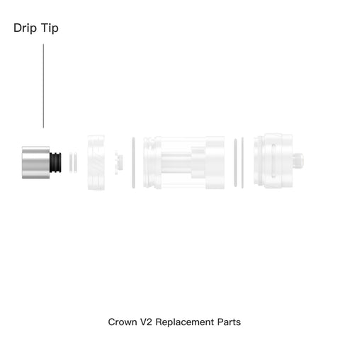 Crown ll Replacement Drip Tip